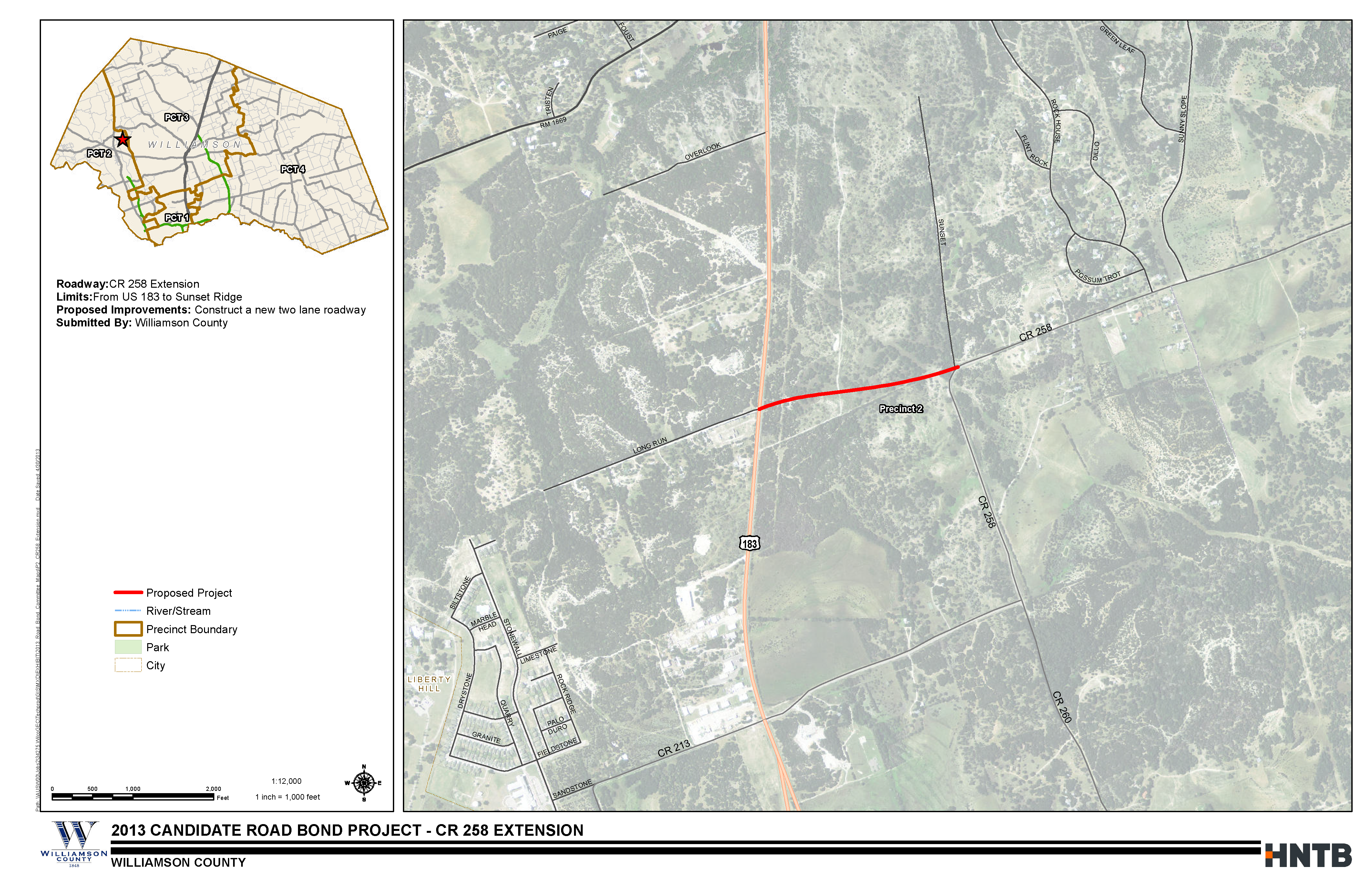 CR 258 Extension Project Map